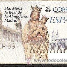 Sellos: ATM ESPAÑA PESETAS ETIQUETA AJUSTE DE STA MARIA LA REAL ALMUDENA ---LIQ.COLECCIÓN---. Lote 117371904