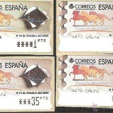 Sellos: ATM ESPAÑA PESETAS SERIE 5 DIG.ESTRECHOS EXP.MUNDIAL FILATELIA 2000 Y VALOR MINIMO--LIQ.COLECCION--. Lote 45928968