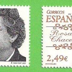 Sellos: EDIFIL 4339-4340. PERSONAJES. - ''CARMEN CONDE Y ROSA CHACEL''. (2007).**. Lote 45996751
