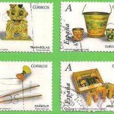 Sellos: EDIFIL 4368-4369-4370-4371-4372-4373-4374-4375. JUGUETES ANTIGUOS. (2008). SERIE COMPLETA.. Lote 46178214