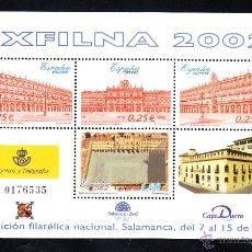 Sellos: ESPAÑA 3906** - AÑO 2002 - EXPOSICION FILATÉLICA NACIONAL, EXFILNA 2002 - SALAMANCA. Lote 46245964