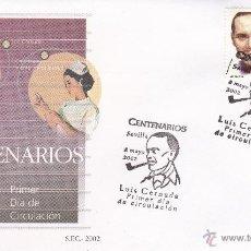 Sellos: SEVILLA.- SOBRE CON MATASELLO PRIMER DÍA CENTENARIO DE LUIS CERNUDA. Nº 3894. Lote 242285470