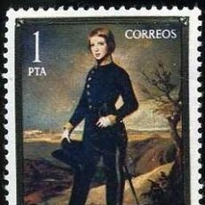 Sellos: SELLO DE 1 PESETA DE 1977 - PINTURA DE FEDERICO MADRAZO - DIA DEL SELLO - Nº2. Lote 46630341
