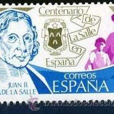 Sellos: SELLO DE 8 PESETAS DE 1979 - CENTENARIO DE JUAN BAUTISTA DE LA SALLE - Nº2. Lote 46634672