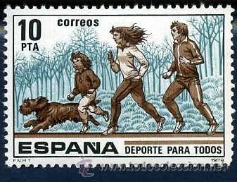 SELLO DE 10 PESETAS DE 1979 - 16 DE MARZO DEPORTES PARA TODOS - Nº2 (Sellos - España - Juan Carlos I - Desde 1.975 a 1.985 - Nuevos)