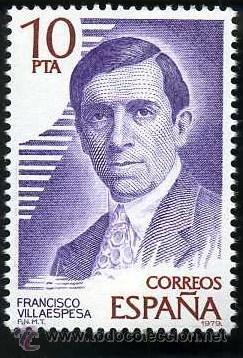SELLO DE 10 PESETAS DE 1979 - FRANCISCO VILLAESPESA - POETA Y NARRADOR ESPAÑOL - Nº3 (Sellos - España - Juan Carlos I - Desde 1.975 a 1.985 - Nuevos)