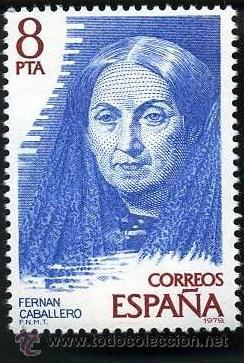 SELLO DE 8 PESETAS DE 1979 - FERNAN CABALLERO - ESCRITORA ESPAÑOLA - Nº4 (Sellos - España - Juan Carlos I - Desde 1.975 a 1.985 - Nuevos)