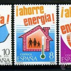 Sellos: SERIE COMPLETA DE SELLOS DE 5, 8 Y 10, PESETAS DE 1979 - 24 DE ENERO AHORRO DE ENERGIA - Nº2. Lote 46636653