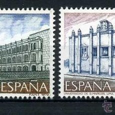 Sellos: SERIE COMPLETA DE SELLOS DE 7 Y 12 PESETAS DE 1979 - AMERICA Y ESPAÑA - MONUMENTOS - Nº3. Lote 46637082