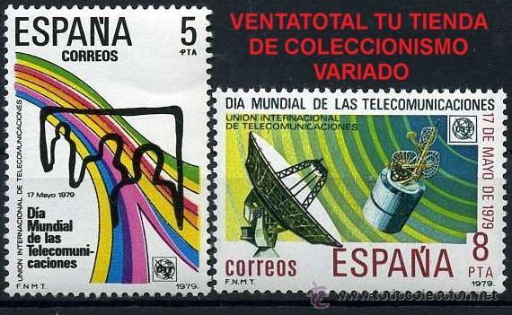 SERIE COMPLETA DE SELLOS DE 5 Y 8 PESETAS DE 1979 - DIA MUNDIAL DE LAS TELECOMUNICACIONES - Nº1 (Sellos - España - Juan Carlos I - Desde 1.975 a 1.985 - Nuevos)