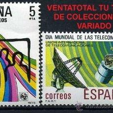 Sellos: SERIE COMPLETA DE SELLOS DE 5 Y 8 PESETAS DE 1979 - DIA MUNDIAL DE LAS TELECOMUNICACIONES - Nº1. Lote 46642033