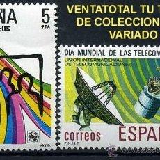 Sellos: SERIE COMPLETA DE SELLOS DE 5 Y 8 PESETAS DE 1979 - DIA MUNDIAL DE LAS TELECOMUNICACIONES - Nº2. Lote 46642078