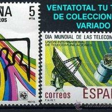 Sellos: SERIE COMPLETA DE SELLOS DE 5 Y 8 PESETAS DE 1979 - DIA MUNDIAL DE LAS TELECOMUNICACIONES - Nº3. Lote 46642092