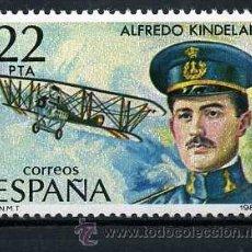 Sellos: SELLO DE 22 PESTAS DE 1980 - PIONEROS DE LA AVIACION - ALFREDO KINDELAN - Nº2. Lote 46662336