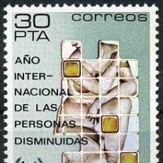 Sellos: SELLO DE 30 PESTAS DE 1981 - AÑO INTERNACIONAL DE LAS PERSONAS DISMINUIDAS - Nº6. Lote 46663166