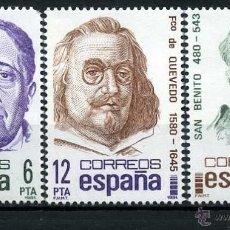 Sellos: SERIE COMPLETA DE 3 SELLOS DE 6,12 Y 30 PESTAS DE 1981 - CENTENARIOS - Nº3. Lote 46664246