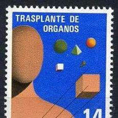 Sellos: SELLO DE 14 PESTAS DE 1982 - TRANSPLANTE DE ORGAOS - Nº2. Lote 46669962