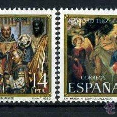 Sellos: SERIE COMPLETA DE 2 SELLOS DE 14 Y 33 PESTAS DE 1982 - NAVIDAD - Nº4. Lote 46670385
