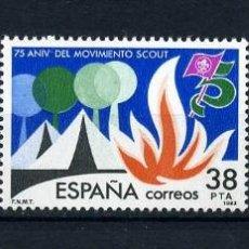 Sellos: SERIE COMPLETA DE 3 SELLOS DE 16, 38 Y 50 PESTAS DE 1983 - GRANDES EFEMERIDES - Nº2. Lote 46670971