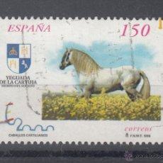 Sellos: ESPAÑA 3612A USADA, CABALLOS, EXPOSICION MUNDIAL DE FILATELIA ESPAÑA 2000. Lote 195129810