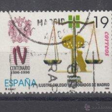 Sellos: ESPAÑA 3417 USADA, IV CENTº DEL ILUSTRE COLEGIO ABOGADOS MADRID,. Lote 289442828