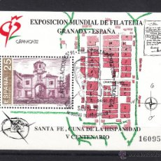Sellos: ESPAÑA 3109 CON GOMA MATASELLO CONMEMORATIVO, SANTA FE, CAPITULACIONES 91, M. BUENO IN MEMORIAM. Lote 106167402