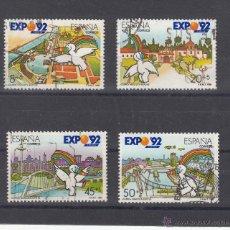 Sellos: ESPAÑA 3050/3 LOTE DE 25 SERIES USADA, CURRO, EXPOSICION UNIVERSAL SEVILLA, EXPO 92. Lote 107348934