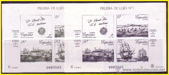 1987 PRUEBAS OFICIALES EXPAMER, EDIFIL Nº 12 Y 13 (*) (Sellos - España - Juan Carlos I - Desde 1.986 a 1.999 - Nuevos)