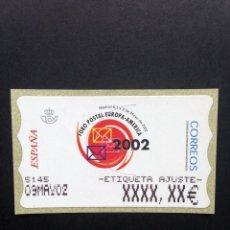 Sellos: ATMS 2002 FORO POSTAL.ATM ETIQUETA POSTAL DE AJUSTE ESTRECHA.. Lote 47208743