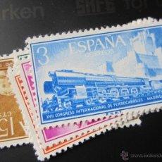 Selos: 1958. XVII CONGRESO INTERNACIONAL DE FERROCARRILES. EDIFIL 1232/1237. Lote 47346910