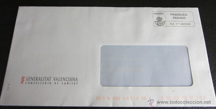 SOBRE FRANQUEO PAGADO. CONSELLERIA DE SANITAT (Sellos - España - Juan Carlos I - Desde 2.000 - Cartas)