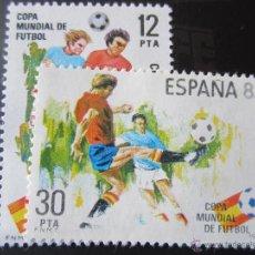 Sellos: 1981. COPA MUNDIAL DE FUTBOL ESPAÑA 82. EDIIFIL 2613/14. Lote 47456697