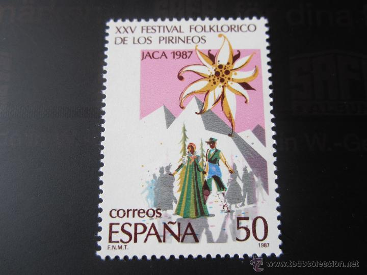 1987. XXV FESTIVAL FOLKLORICO DE LOS PIRINÉOS EN JACA. EDIFIL 2910 (Sellos - España - Juan Carlos I - Desde 1.986 a 1.999 - Nuevos)