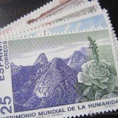 Sellos: 1991. BIENES CULTURALES Y NATURALES PATRIMONIO DE LA HUMANIDAD. EDIFIL 3146/49. Lote 47496785