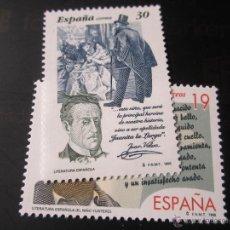 Sellos: 1995. LITERATURA ESPAÑOLA, PERSONAJES DE FICCIÓN. EDIFIL 3356/57. Lote 47511941