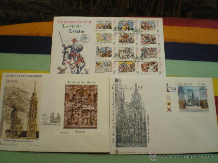 3 SOBRES 1º DIA, AÑO 1.998 (Sellos - España - Juan Carlos I - Desde 1.986 a 1.999 - Cartas)