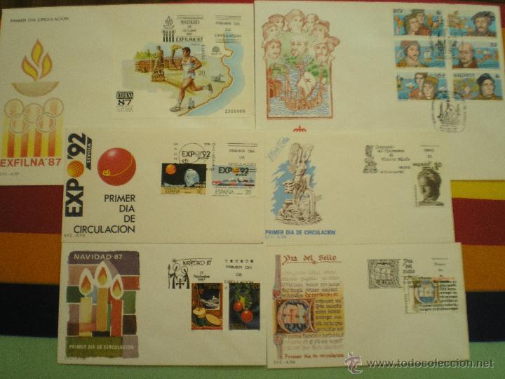 6 SOBRES 1º DIA, AÑO 1.987 (Sellos - España - Juan Carlos I - Desde 1.986 a 1.999 - Cartas)