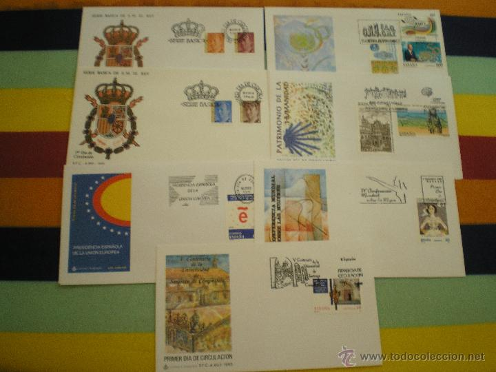 7 SOBRES 1º DIA, AÑO 1.995 (Sellos - España - Juan Carlos I - Desde 1.986 a 1.999 - Cartas)