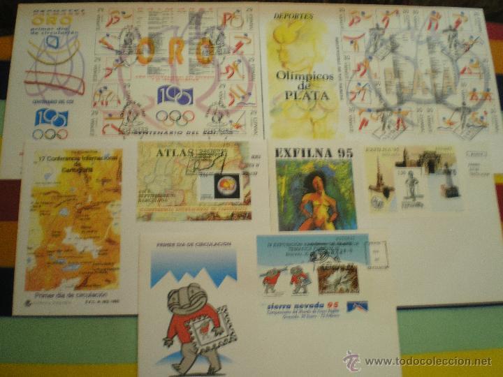 5 SOBRES 1º DIA, AÑO 1.995 (Sellos - España - Juan Carlos I - Desde 1.986 a 1.999 - Cartas)