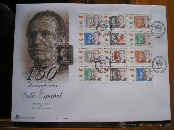 1 SOBRES 1º DIA, AÑO 2.000 (Sellos - España - Juan Carlos I - Desde 1.986 a 1.999 - Cartas)