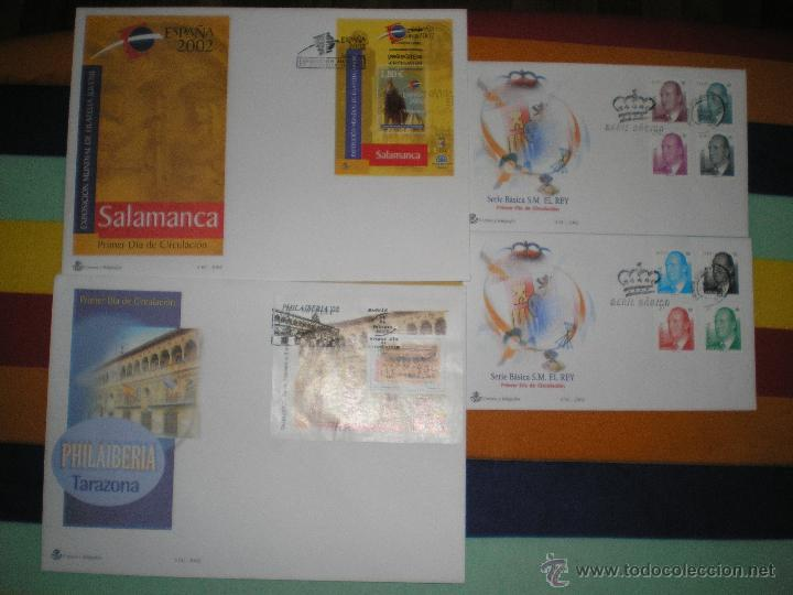 4 SOBRES 1º DIA, AÑO 2.002 (Sellos - España - Juan Carlos I - Desde 1.986 a 1.999 - Cartas)