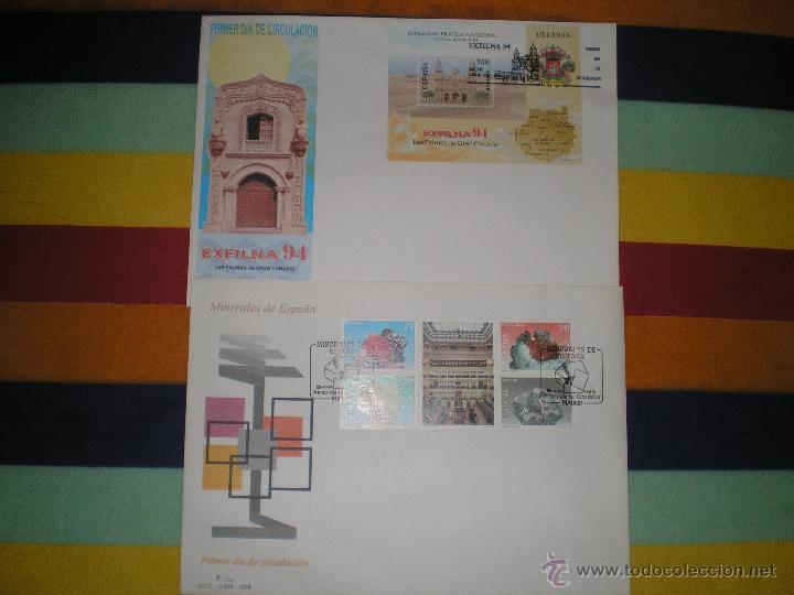 2 SOBRES 1º DIA, AÑO 1.994 (Sellos - España - Juan Carlos I - Desde 1.986 a 1.999 - Cartas)