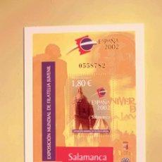 Sellos: EXP. MUNDIAL FILATELIA JUVENIL - ESPAÑA 2002 - EDIFIL 3878 - CATEDRAL SALAMANCA. Lote 47540762