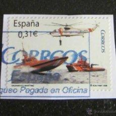 Sellos: SALVAMENTO MARÍTIMO. 0,31 €. 2008. PEGADO. Lote 47609176