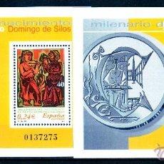 Sellos: 2001. HOJITAS SANTO DOMINGO DE SILOS EDIFIL Nº 3818/9. Lote 47615507