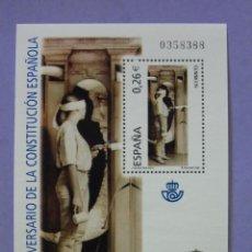 Selos: HOJA BLOQUE SELLOS CORREOS ESPAÑA. XXV ANIVERSARIO DE LA CONSTITUCIÓN ESPAÑOLA. AÑO 2003.. Lote 47685214