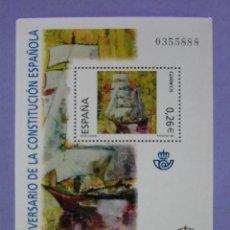 Selos: HOJA BLOQUE SELLOS CORREOS ESPAÑA. XXV ANIVERSARIO DE LA CONSTITUCIÓN ESPAÑOLA. AÑO 2003.. Lote 47685224