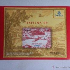 Sellos: HOJITA (EXFILNA'09) ESPAÑA - 2009- NUEVA (FACIAL 2,47€). Lote 47694772