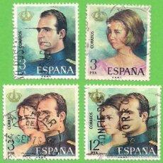 Sellos: EDIFIL 2302-2303-2304-2305. DON JUAN CARLOS I Y DOÑA SOFÍA. (1975). SERIE COMPLETA.. Lote 47865344
