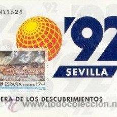 Sellos: AÑO 1992 (3191) HB EXPO 92, SEVILLA (NUEVO). Lote 47951337